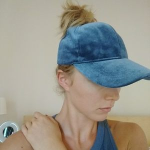 Ball cap w/ opening for top knot!